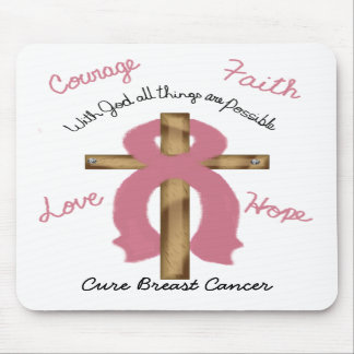 with God Cure Breast Cancer mouse pad