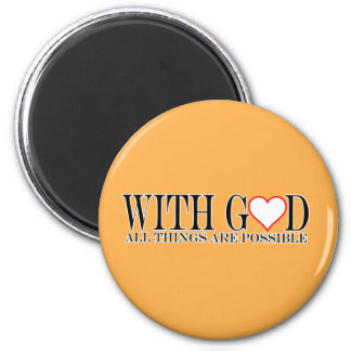 With GOD (Heart Design) Magnet