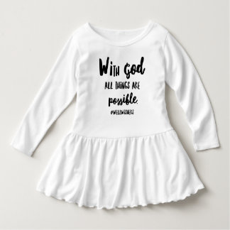 with God well wishers toddler girls tshirt