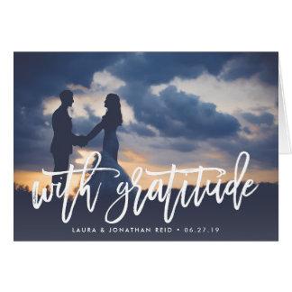 With Gratitude | Wedding Photo Thank You Card