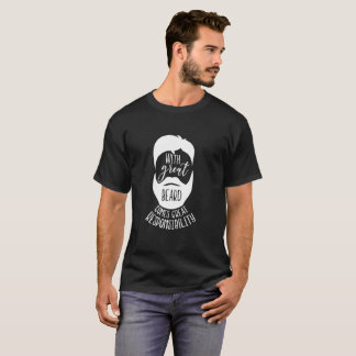 With Great Beard Come Responsibility Black T Shirt