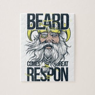 with great beard comes great responsibility jigsaw puzzle
