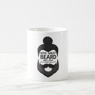 With Great Beard Comes Great Responsibility Shirt Coffee Mug