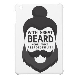 With Great Beard Comes Great Responsibility Shirt iPad Mini Cover