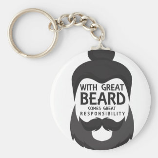 With Great Beard Comes Great Responsibility Shirt Keychain