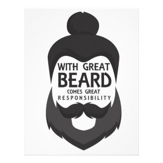 With Great Beard Comes Great Responsibility Shirt Letterhead