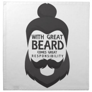 With Great Beard Comes Great Responsibility Shirt Napkin