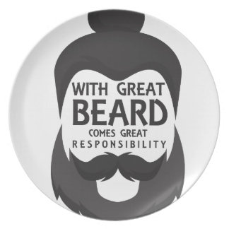 With Great Beard Comes Great Responsibility Shirt Plate