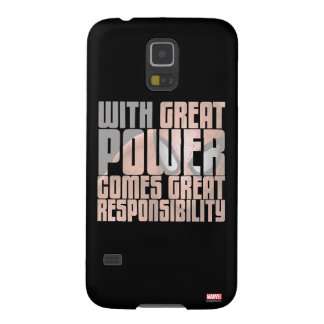 With Great Power Comes Great Responsibility Galaxy S5 Cover