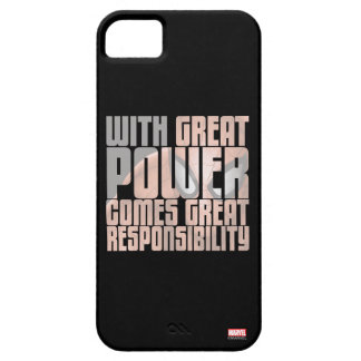 With Great Power Comes Great Responsibility iPhone 5 Cases