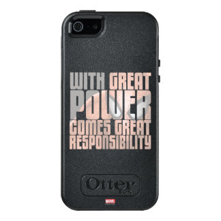 With Great Power Comes Great Responsibility OtterBox iPhone 5/5s/SE Case