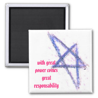 With great power refrigerator magnet