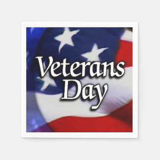 With Honor We Celebrate Veterans Day Party Napkins