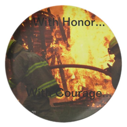 With honour...with courage... plate