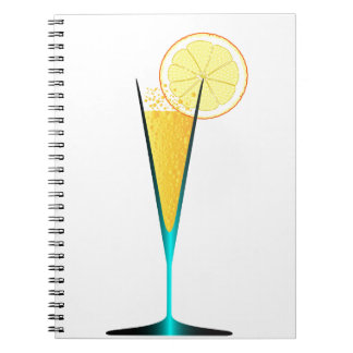With Ice And Lemon Notebook