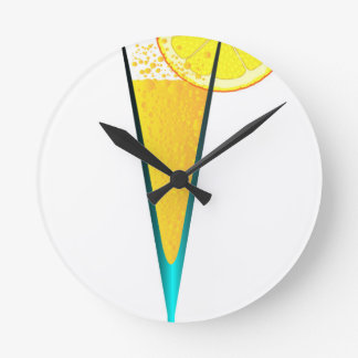 With Ice And Lemon Round Clock