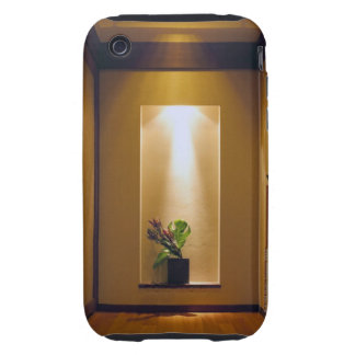 with Japanese-style interior and flower Tough iPhone 3 Cases