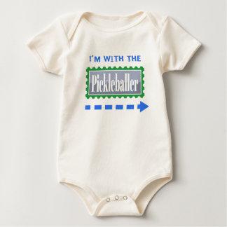 with left baby bodysuit