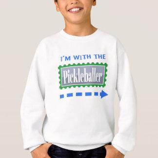 with left sweatshirt