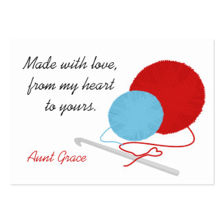 With Love Crochet Hang Tag Large Business Card
