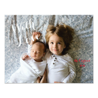 With Love custom Christmas or holiday photo card