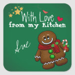 With Love from my Holiday Kitchen Stickers
