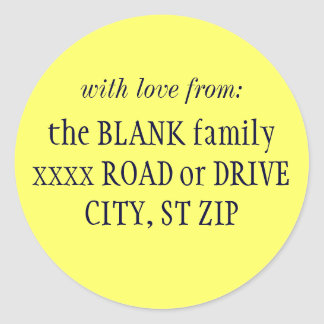 """""""with love from..."""" return address labels"""