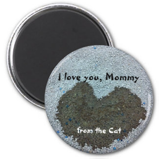 With Love from the Cat 2 Inch Round Magnet