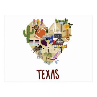 With Love from the Great State of Texas Postcard