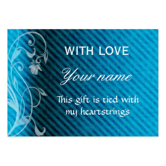 With Love Gift Tag Large Business Card
