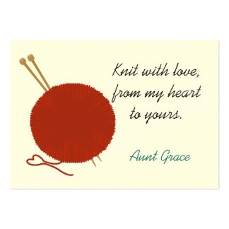 With Love Knitter's Hang Tag Large Business Card