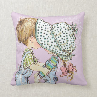 """""""With Love"""" Purple Throw Pillow"""