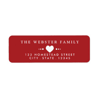 With Love Red Return Address