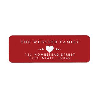 With Love Red Return Address Return Address Label