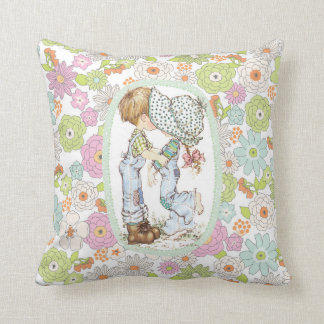 """""""With Love"""" Signature Floral Throw Pillow"""