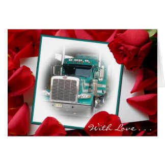 With Love...Stacks Truck Greeting Card
