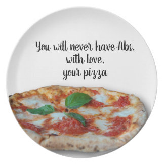 With love, Your pizza - Plate
