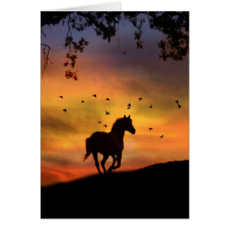 With Loving Memories Horse Sympathy Card