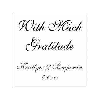 With Much Gratitude | Editable, Elaborate Script Self-inking Stamp