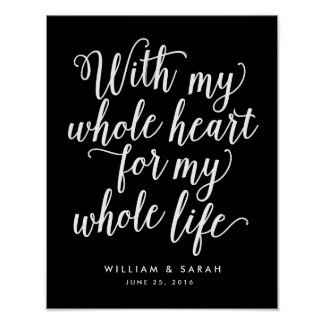 With My Whole Heart For My Whole Life Poster