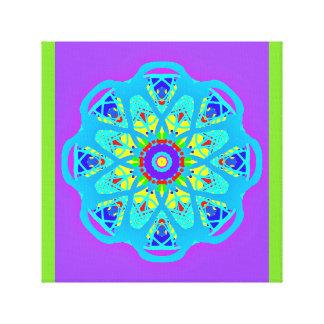 With Science Aqua Blue Mandala Canvas Print