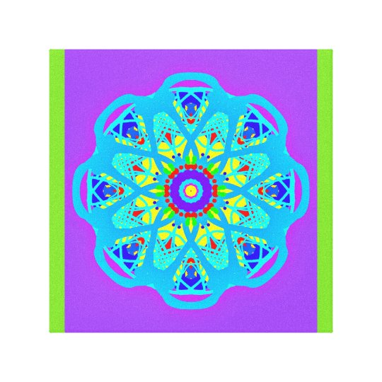 With Science Aqua Blue Mandala Canvas Print