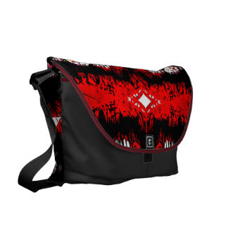 With sharp messenger bags