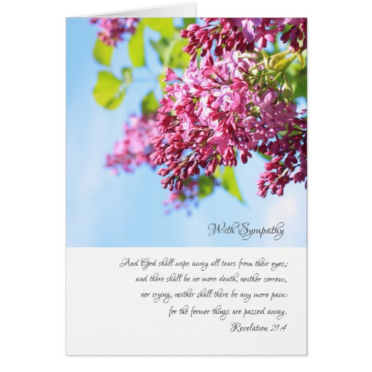 With sympathy, Christian card with scritpures