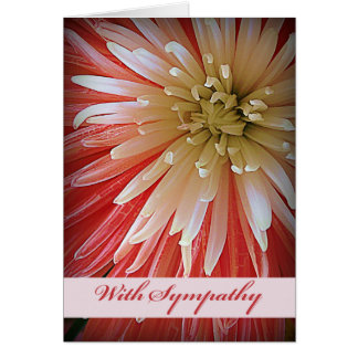 With Sympathy, Fuji Mum, Pink and White Shades Card