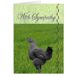 With Sympathy (loss of a chicken) Card