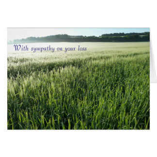 With Sympathy (loss of a dog) Card