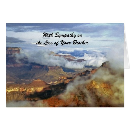 With Sympathy Loss of Brother, Grand Canyon Clouds Cards