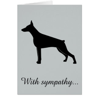 With Sympathy: Loss of Your Doberman Pinscher Card