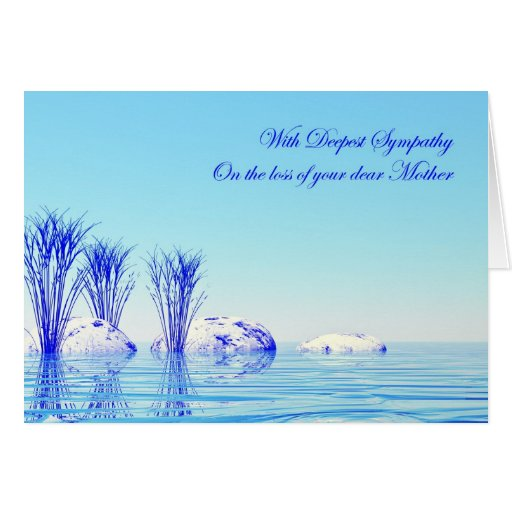 With sympathy on loss of mother greeting card